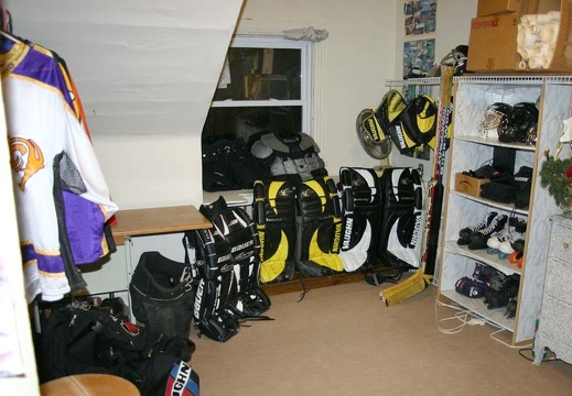 My Hockey Closets and Storage